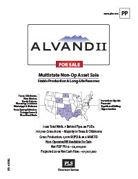 ALVAND - MULTISTATE NONOPERATED PACKAGE