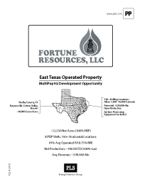 FORTUNE - EAST TEXAS PROJECT