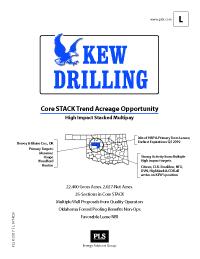 CORE OKLAHOMA PROJECT (KEW Drilling)