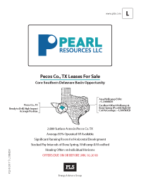 PECOS CO., TX LEASES