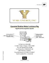 LOUISIANA STATE WATERS SALE PKG