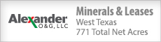 WEST TEXAS MINERALS PACKAGE